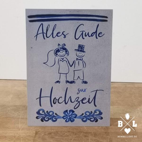 Glückwunschkarte Hochzeitskarte Postkarte