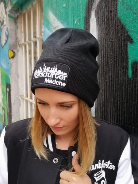 Frankfurter Mädchen Beanie Mütze Schwarz