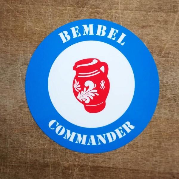 Aufkleber - Bembel Commander