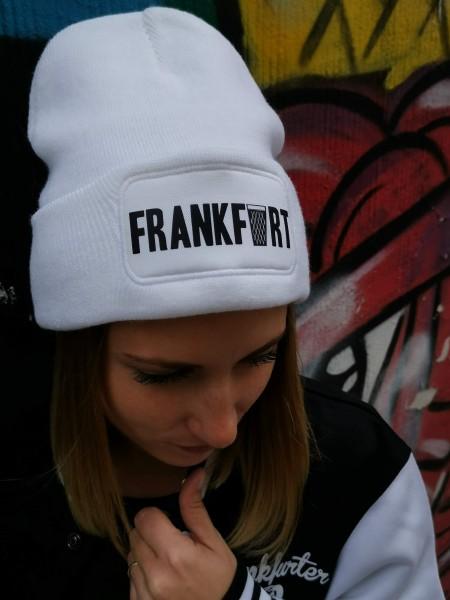 Frankfurt Beanie Mütze Weiß