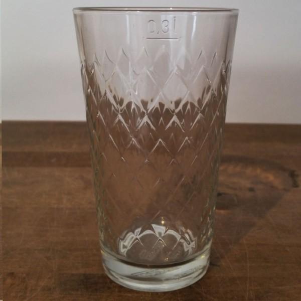 Durchgeripptes Apfelweinglas 0,3 Liter