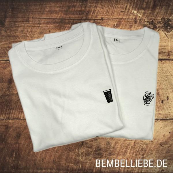 Bembel TShirt und Gerippte Apfelweinglas Shirt im Pack