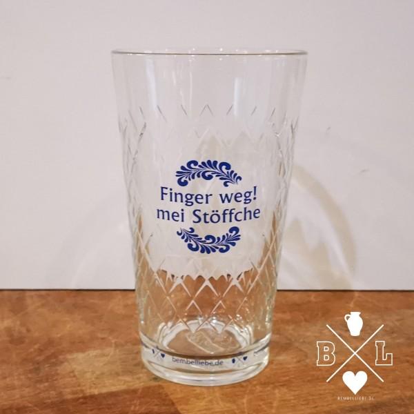 Apfelweinglas Gerippte Schoppe Finger weg mei Stöffche