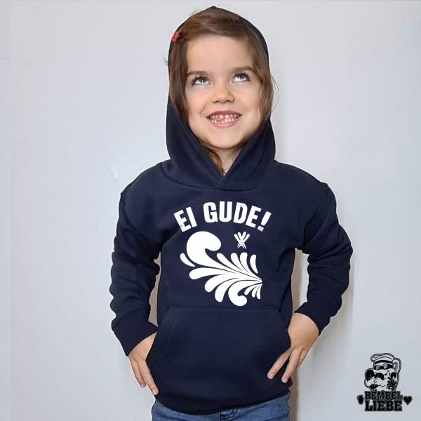 Kinder Hoodie Ei Gude - navy Bembel Ranke