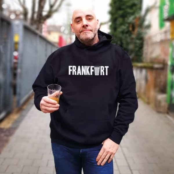 Frankfurt Hoodie Pulli mit dem Gerippte Apfelweinglas