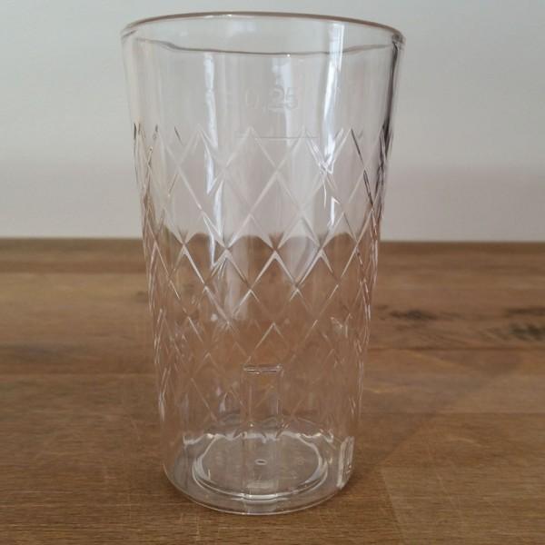 Plastik Gerippte 0,25 Liter bedruckbar